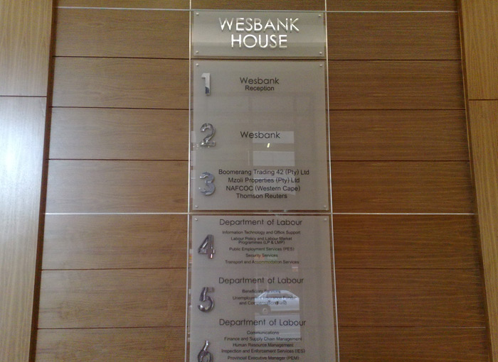 Extra White Glass Lobby Directories Kdp Signmakers